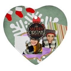 Merry Christmas By Merry Christmas   Heart Ornament (two Sides)   E1u093vgj3yv   Www Artscow Com Back