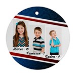 family2013 - Round Ornament (Two Sides)