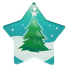 Winter Paradise Star Ornament by Contest1694379