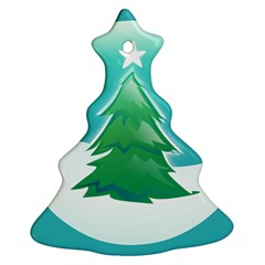 Winter Paradise Christmas Tree Ornament