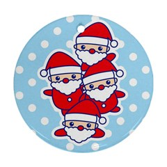 Santa s Round Ornament (two Sides) by Contest1762364