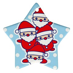 Santa s Star Ornament (Two Sides) by Contest1762364