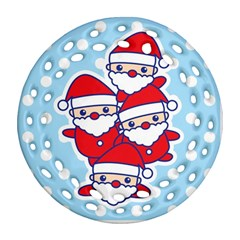 Santa s Round Filigree Ornament (two Sides) by Contest1762364