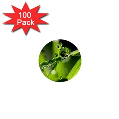 Waterdrops 1  Mini Button (100 Pack) by Siebenhuehner
