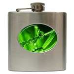 Waterdrops Hip Flask Front