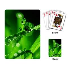 Waterdrops Playing Cards Single Design by Siebenhuehner