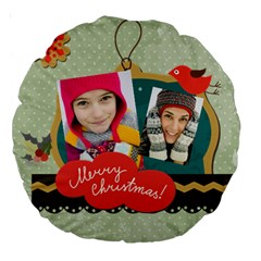 Merry Christmas By Merry Christmas   Large 18  Premium Round Cushion    Nl8tu2odihlx   Www Artscow Com Front