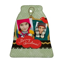 Merry Christmas By Merry Christmas   Bell Ornament (two Sides)   M16chjcaxtan   Www Artscow Com Front