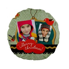 Merry Christmas By Merry Christmas   Standard 15  Premium Round Cushion    Hiiuu6869wss   Www Artscow Com Back