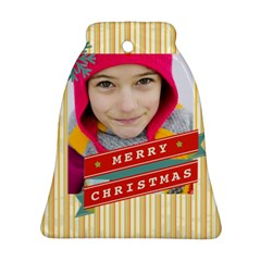 Merry Christmas By Merry Christmas   Bell Ornament (two Sides)   T65fabbs6igf   Www Artscow Com Back