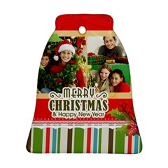 Merry Christmas By Merry Christmas   Bell Ornament (two Sides)   Ildyra1smffv   Www Artscow Com Front