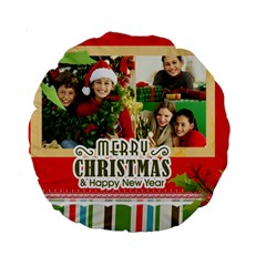 Merry Christmas By Merry Christmas   Standard 15  Premium Round Cushion    0coza2zu0h6a   Www Artscow Com Front