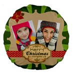merry christmas - Large 18  Premium Round Cushion