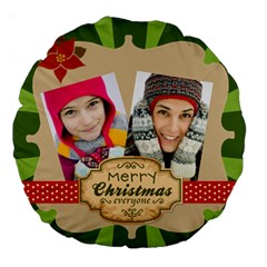 Merry Christmas By Merry Christmas   Large 18  Premium Round Cushion    Dngz1a5dzkqd   Www Artscow Com Back