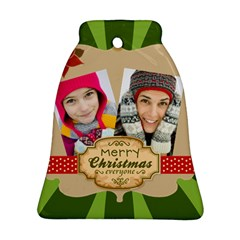 Merry Christmas By Merry Christmas   Bell Ornament (two Sides)   3bry3y12pe9v   Www Artscow Com Front