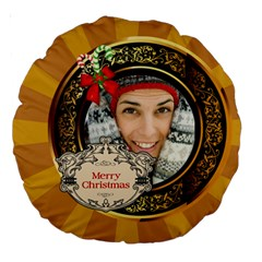 Merry Christmas By Merry Christmas   Large 18  Premium Round Cushion    Pree3gt11wjn   Www Artscow Com Back