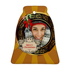 Merry Christmas By Merry Christmas   Bell Ornament (two Sides)   H6te0eix226d   Www Artscow Com Front