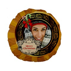 Merry Christmas By Merry Christmas   Standard 15  Premium Round Cushion    Ixe1wc4ssx0i   Www Artscow Com Front