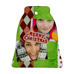 Merry Christmas By Merry Christmas   Bell Ornament (two Sides)   Fh1oa8ymhlw7   Www Artscow Com Front