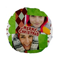 Merry Christmas By Merry Christmas   Standard 15  Premium Round Cushion    Osy0behzhhey   Www Artscow Com Back