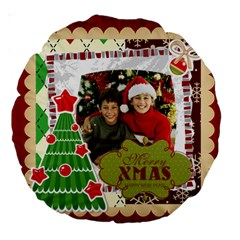Merry Christmas By Merry Christmas   Large 18  Premium Round Cushion    Y73gfg6sq3gx   Www Artscow Com Back