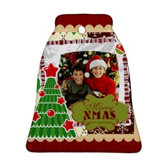Merry Christmas By Merry Christmas   Bell Ornament (two Sides)   Sq5gqyj6fl8x   Www Artscow Com Back
