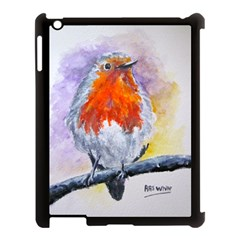 Robin Red Breast Apple Ipad 3/4 Case (black) by ArtByThree