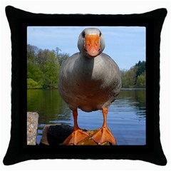 Geese Black Throw Pillow Case by Siebenhuehner
