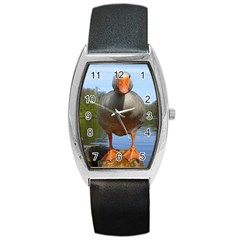 Geese Tonneau Leather Watch