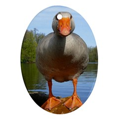 Geese Oval Ornament (two Sides)
