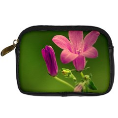 Campanula Close Up Digital Camera Leather Case by Siebenhuehner