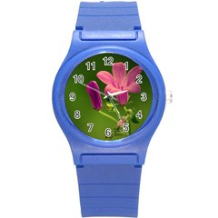 Campanula Close Up Plastic Sport Watch (small) by Siebenhuehner