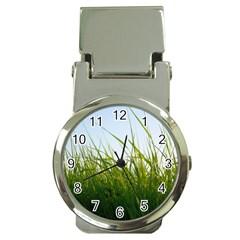 Grass Money Clip With Watch by Siebenhuehner