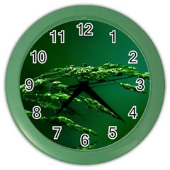 Waterdrops Wall Clock (color) by Siebenhuehner