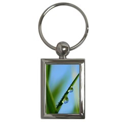 Waterdrops Key Chain (rectangle) by Siebenhuehner