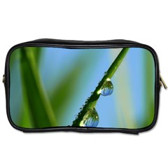 Waterdrops Travel Toiletry Bag (two Sides) by Siebenhuehner