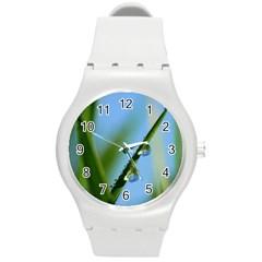 Waterdrops Plastic Sport Watch (medium) by Siebenhuehner