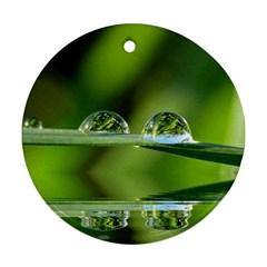 Waterdrops Round Ornament by Siebenhuehner