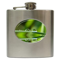Waterdrops Hip Flask