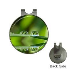 Waterdrops Hat Clip With Golf Ball Marker by Siebenhuehner