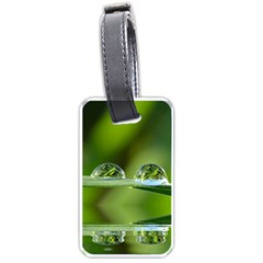 Waterdrops Luggage Tag (one Side) by Siebenhuehner
