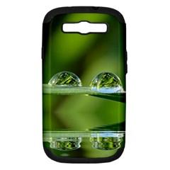 Waterdrops Samsung Galaxy S III Hardshell Case (PC+Silicone) by Siebenhuehner