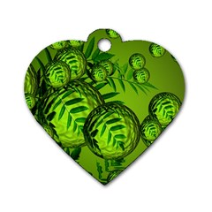 Magic Balls Dog Tag Heart (two Sided) by Siebenhuehner