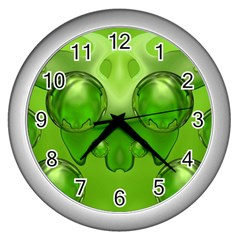 Magic Balls Wall Clock (silver) by Siebenhuehner