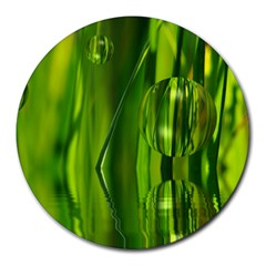 Green Bubbles  8  Mouse Pad (round) by Siebenhuehner