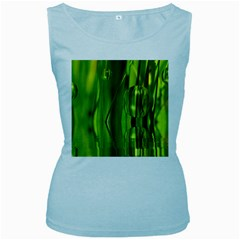 Green Bubbles  Womens  Tank Top (baby Blue) by Siebenhuehner