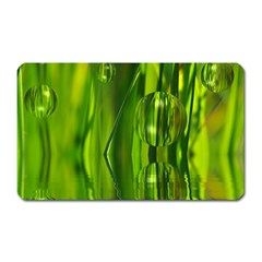 Green Bubbles  Magnet (rectangular) by Siebenhuehner