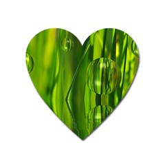 Green Bubbles  Magnet (heart) by Siebenhuehner