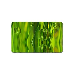 Green Bubbles  Magnet (name Card) by Siebenhuehner