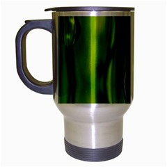 Green Bubbles  Travel Mug (silver Gray) by Siebenhuehner